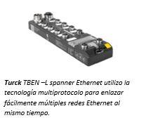 El Spanner Ethernet de Turck proporciona un convertidor de protocolo robusto.